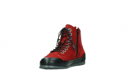 wolky bottines a lacets 02777 watson 13505 cuir nubuck rouge_9