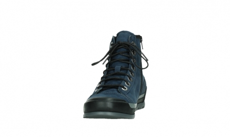 wolky lace up boots 02777 watson 13800 blue nubuckleather_8