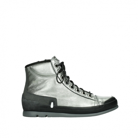 wolky lace up boots 02777 watson 30280 metal leather