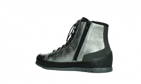 wolky lace up boots 02777 watson 30280 metal leather_15