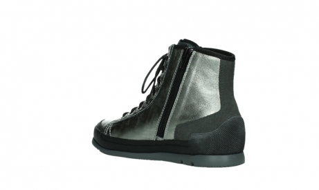wolky lace up boots 02777 watson 30280 metal leather_16