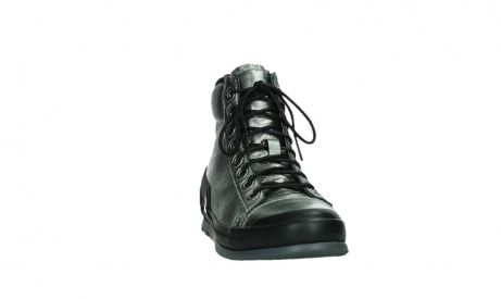 wolky lace up boots 02777 watson 30280 metal leather_6
