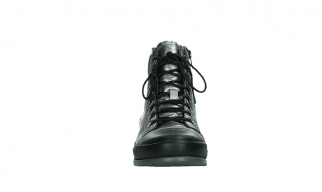 wolky lace up boots 02777 watson 30280 metal leather_7