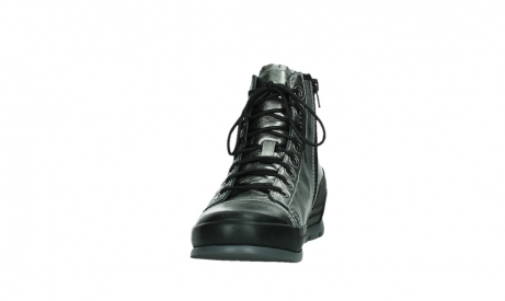 wolky lace up boots 02777 watson 30280 metal leather_8