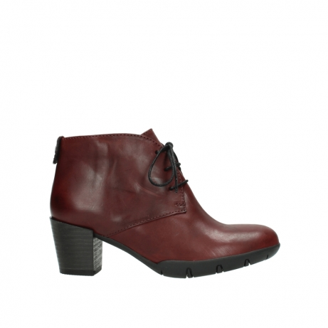 wolky bottines a lacets 03675 bighorn 30512 cuir bordeaux