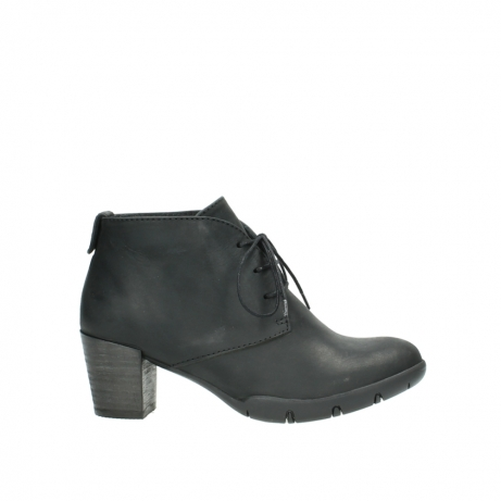 wolky lace up boots 03675 bighorn 50000 black oiled leather