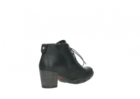 wolky lace up boots 03675 bighorn 50000 black oiled leather_10