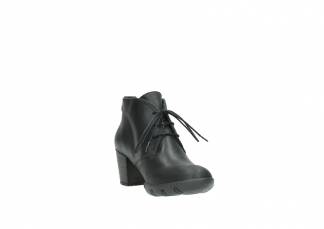 wolky lace up boots 03675 bighorn 50000 black oiled leather_17