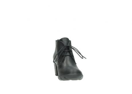 wolky lace up boots 03675 bighorn 50000 black oiled leather_18