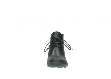 wolky lace up boots 03675 bighorn 50000 black oiled leather_19