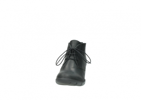 wolky lace up boots 03675 bighorn 50000 black oiled leather_20