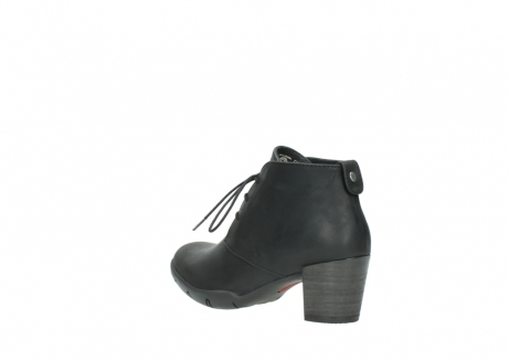 wolky lace up boots 03675 bighorn 50000 black oiled leather_4