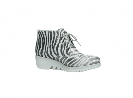 wolky lace up boots 03810 dusky 90120 zebraprint metallic leather_15
