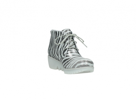 wolky lace up boots 03810 dusky 90120 zebraprint metallic leather_17