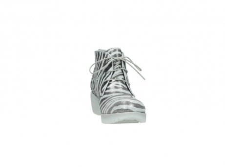 wolky lace up boots 03810 dusky 90120 zebraprint metallic leather_18