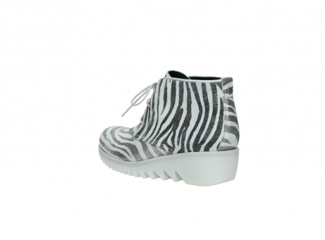 wolky lace up boots 03810 dusky 90120 zebraprint metallic leather_4