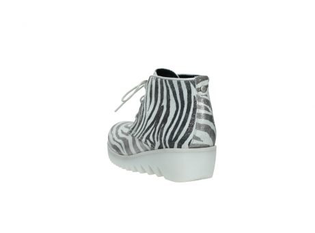 wolky lace up boots 03810 dusky 90120 zebraprint metallic leather_5