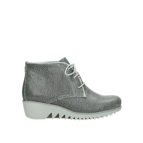 wolky lace up boots 03810 dusky 920 grey leather canvas