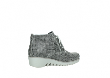 Wolky Shoes 03810 Dusky Grey Printed Suede Order Now