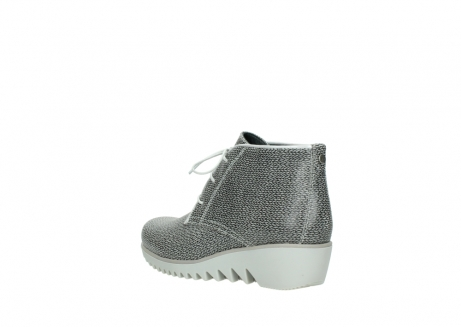 wolky lace up boots 03810 dusky 920 grey leather canvas_4