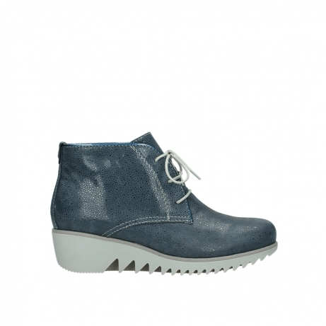 wolky lace up boots 03810 dusky 90820 denim blue dots nubuck