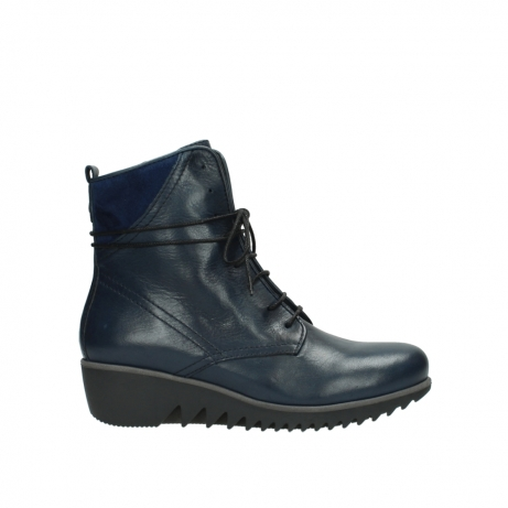 wolky bottines a lacets 03812 rusty 20800 cuir bleu