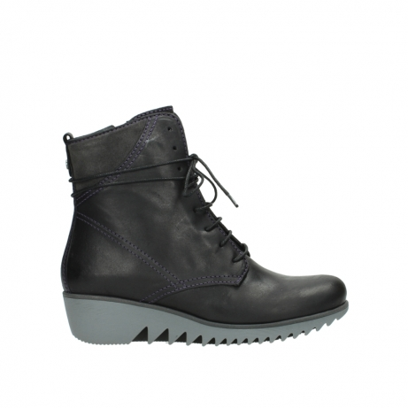 wolky boots 03812 rusty 50600 dunkellila schwarz geoltes leder