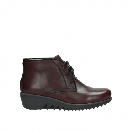 wolky lace up boots 03818 dusky winter 20510 burgundy leather