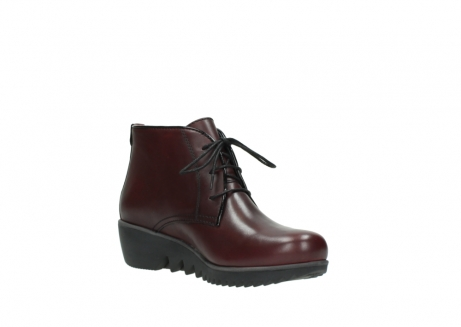 wolky lace up boots 03818 dusky winter 20510 burgundy leather_16