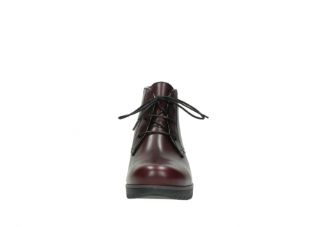 wolky lace up boots 03818 dusky winter 20510 burgundy leather_19