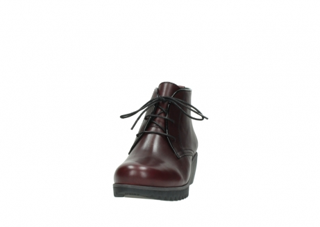 wolky lace up boots 03818 dusky winter 20510 burgundy leather_20