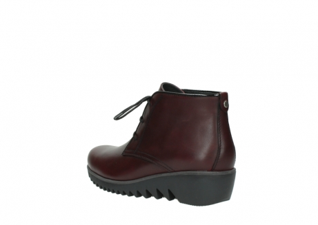 wolky lace up boots 03818 dusky winter 20510 burgundy leather_4