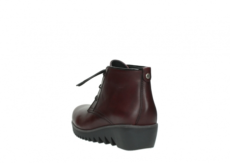 wolky lace up boots 03818 dusky winter 20510 burgundy leather_5