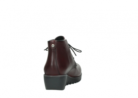 wolky lace up boots 03818 dusky winter 20510 burgundy leather_8