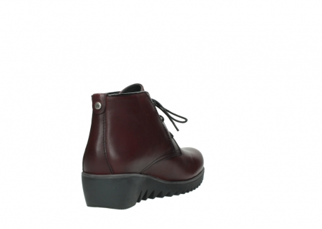 wolky lace up boots 03818 dusky winter 20510 burgundy leather_9