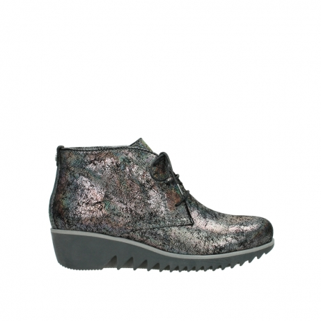 wolky lace up boots 03818 dusky winter 40280 grey metallic suede