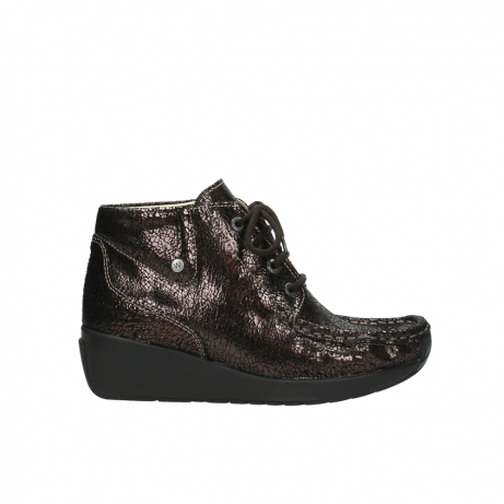 wolky lace up boots 04350 varosa 90300 brown craquele leather