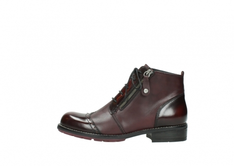 wolky lace up boots 04440 millstream 30510 burgundy polished leather_1