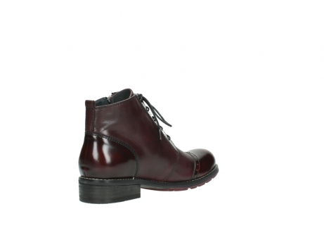 wolky lace up boots 04440 millstream 30510 burgundy polished leather_10