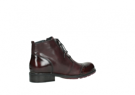 wolky lace up boots 04440 millstream 30510 burgundy polished leather_11