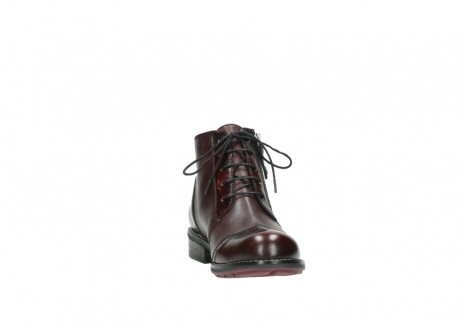 wolky lace up boots 04440 millstream 30510 burgundy polished leather_18