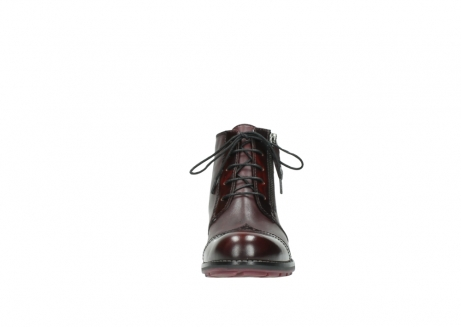 wolky lace up boots 04440 millstream 30510 burgundy polished leather_19