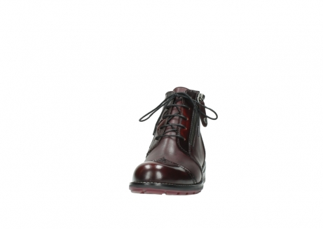 wolky lace up boots 04440 millstream 30510 burgundy polished leather_20