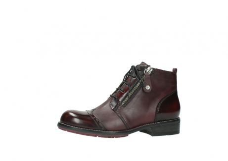 wolky lace up boots 04440 millstream 30510 burgundy polished leather_24