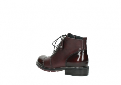 wolky lace up boots 04440 millstream 30510 burgundy polished leather_4