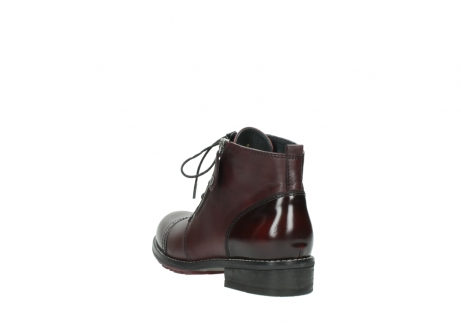 wolky lace up boots 04440 millstream 30510 burgundy polished leather_5