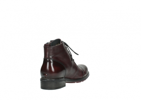 wolky lace up boots 04440 millstream 30510 burgundy polished leather_9