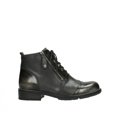 wolky bottines a lacets 04440 millstream 39210 cuir anthracite