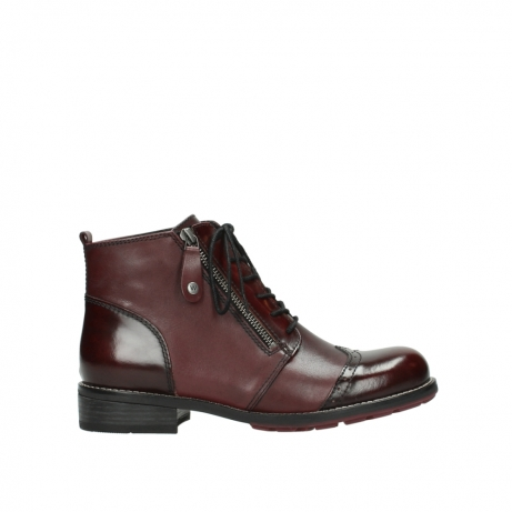 wolky lace up boots 04440 millstream 39510 burgundy combi leather
