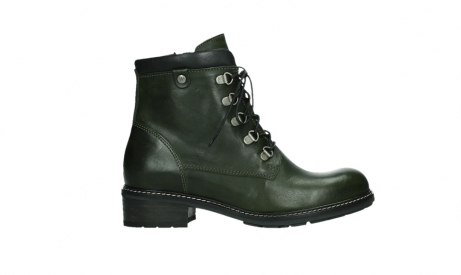 wolky lace up boots 04475 ronda 30730 forest green leather_1